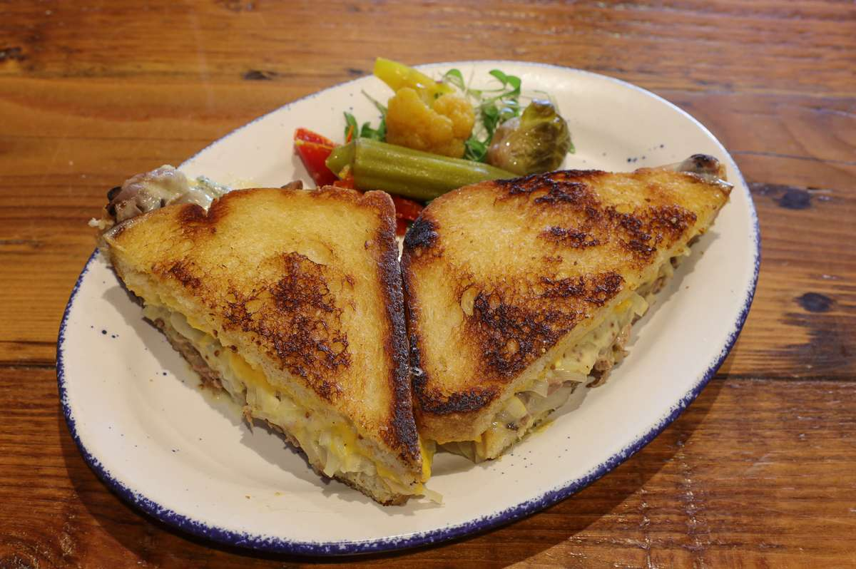 BRISKET & CAMBOZOLA GRILLED CHEESE