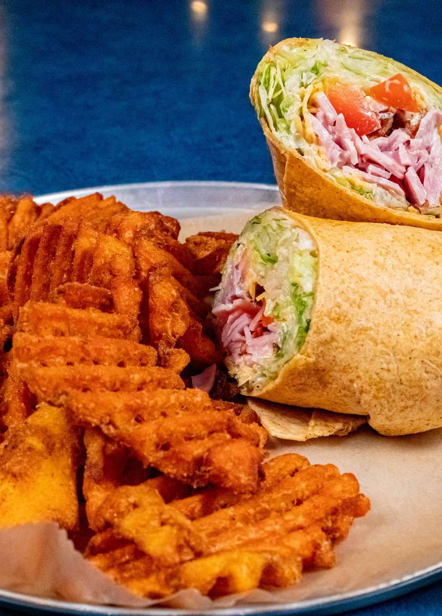 Wrap with waffle fries