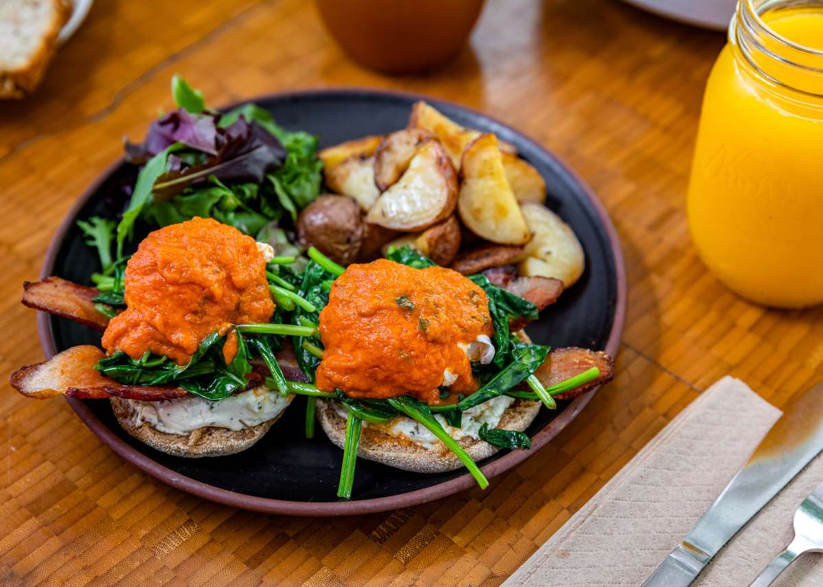Goat Cheese Spinach Benedict