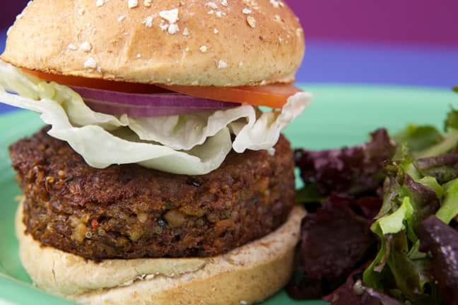 Three-Grain Vegetarian Burger