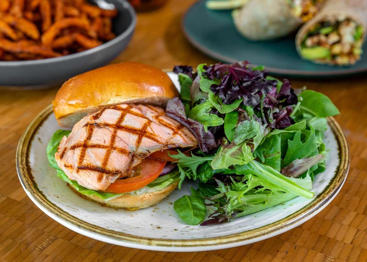 Grilled Salmon Sandwich