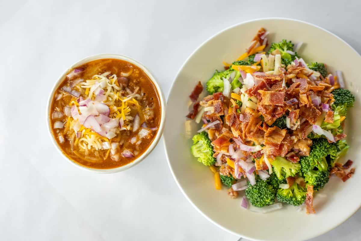 broccoli salad and chilli