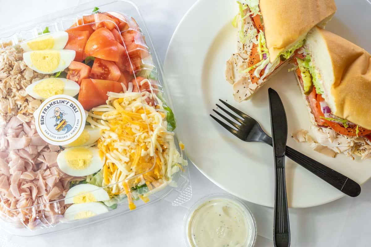chef salad and club sandwich