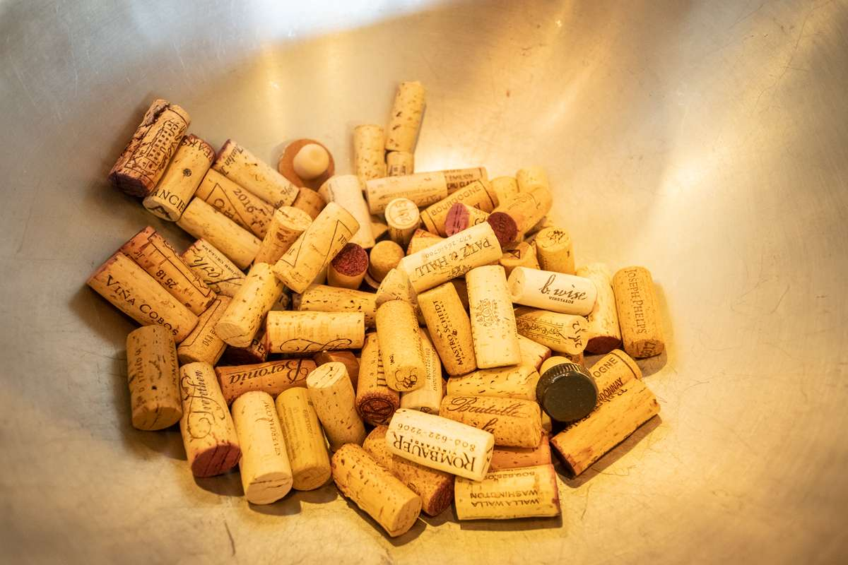 Bowl of wine corks