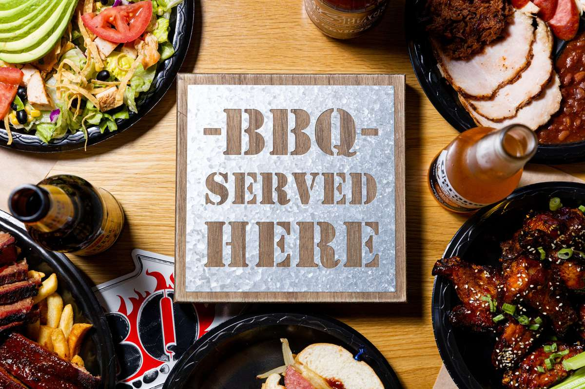bbq served here with foods