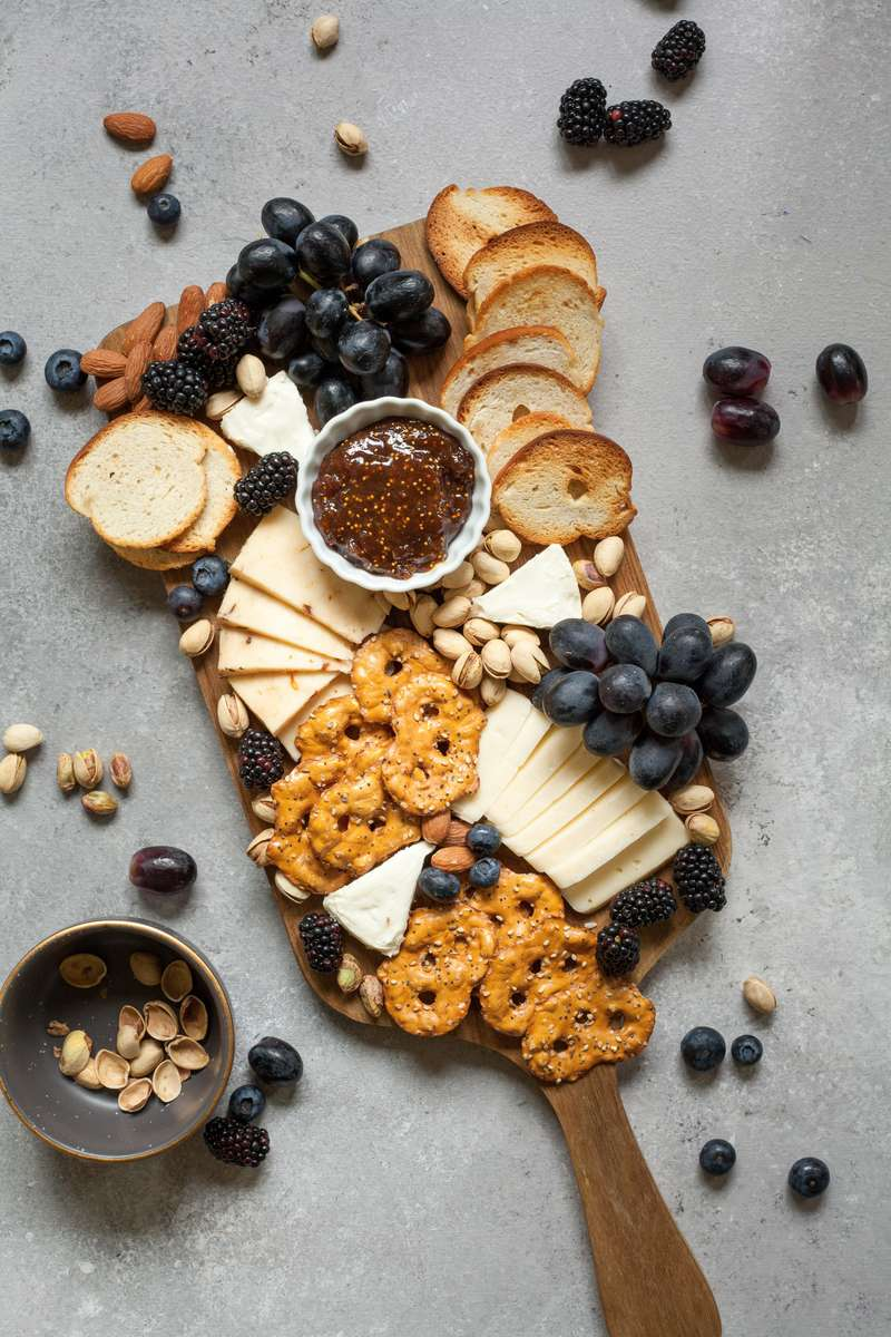 Fresh Fruit & Cheese Display with Assorted Crackers