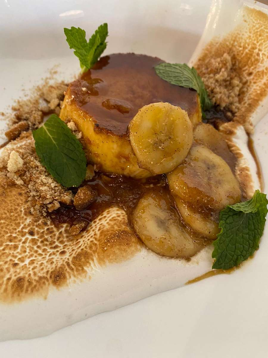 Caramelized Banana Flan