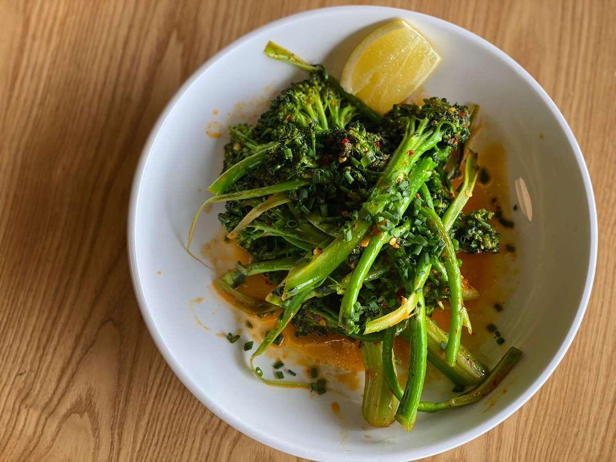 Fresno Chile Glazed Broccolini