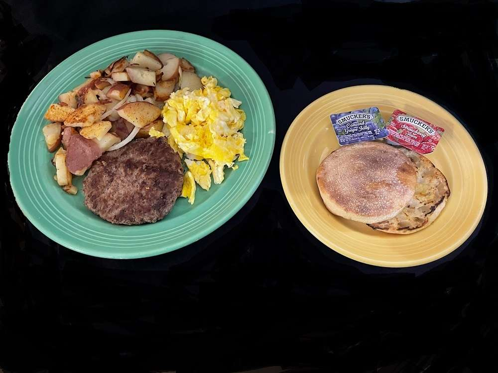 Beef or Garden Patty Breakfast