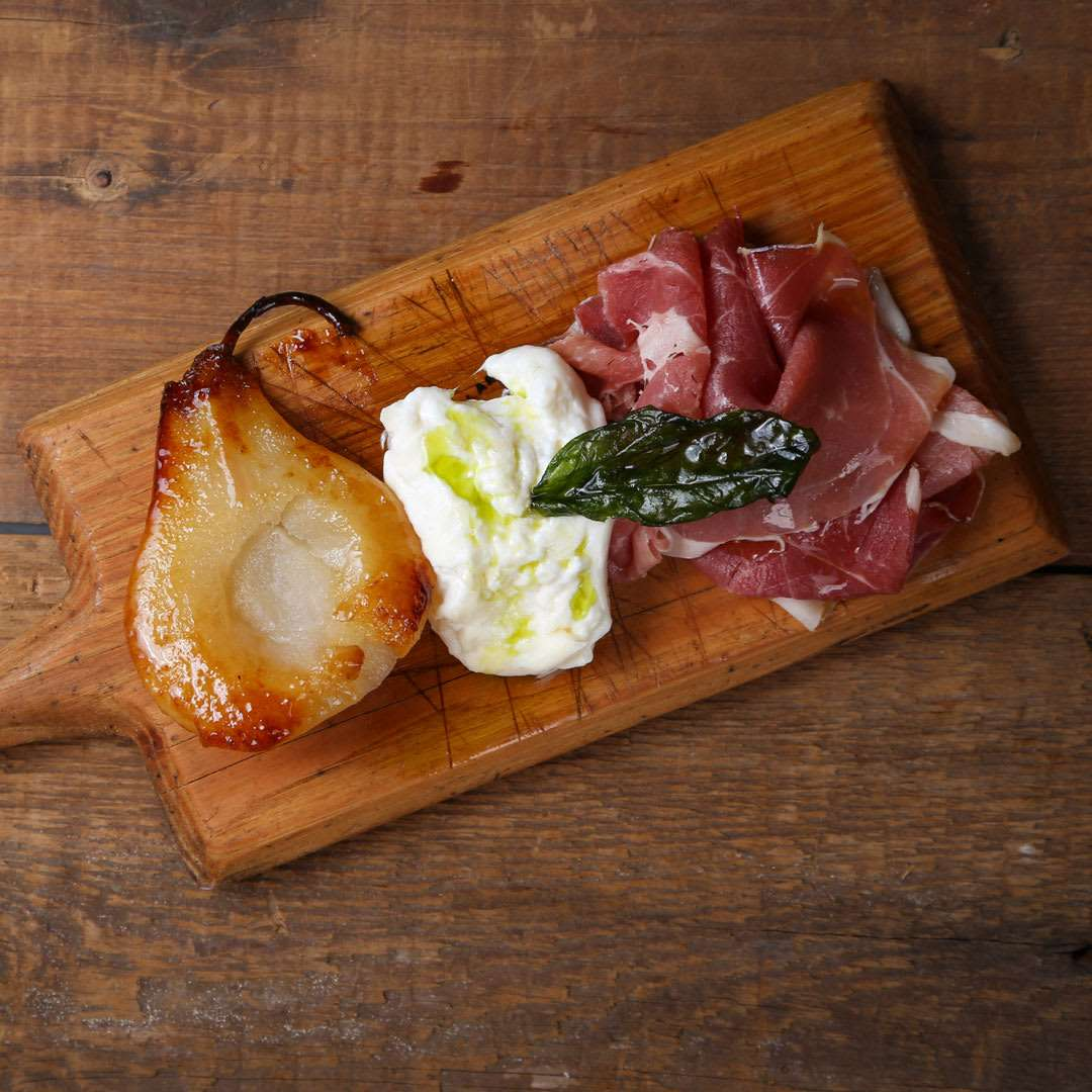 Prosciutto & Burrata with Pear