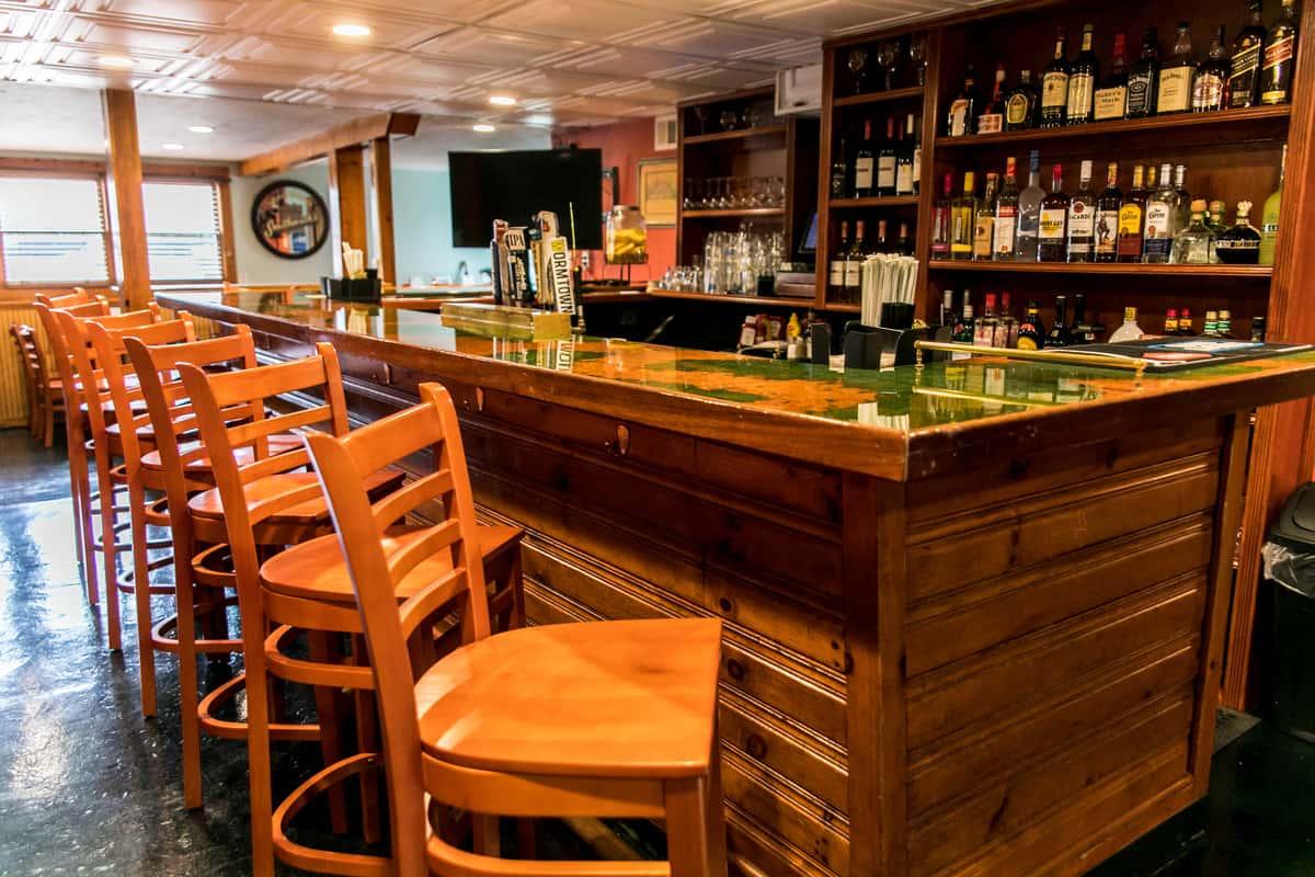 bar stools at bar