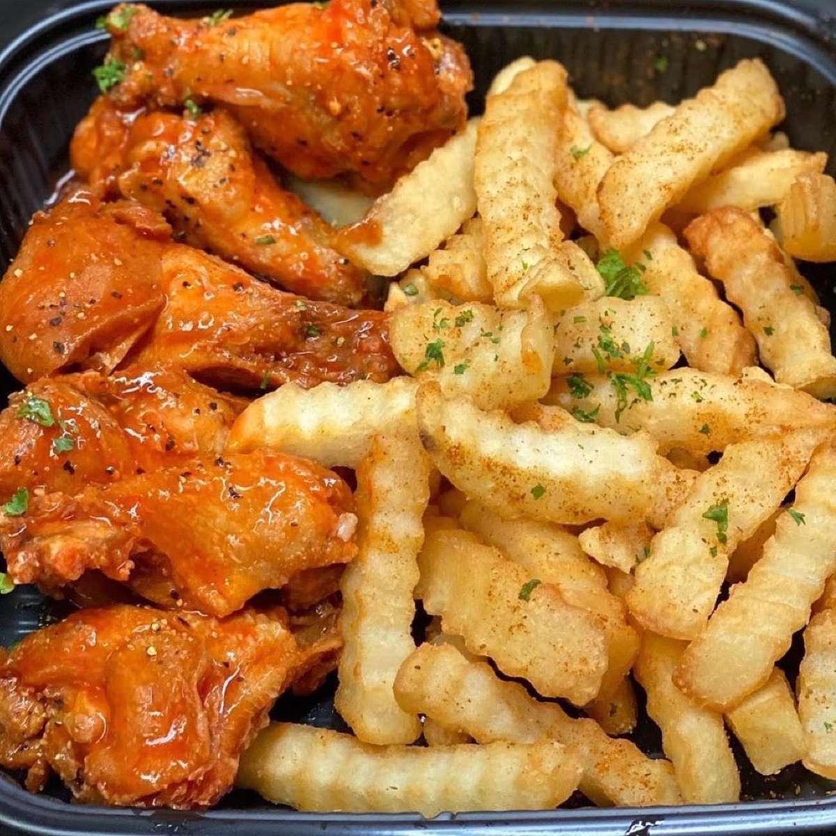 6 Wings & Fries
