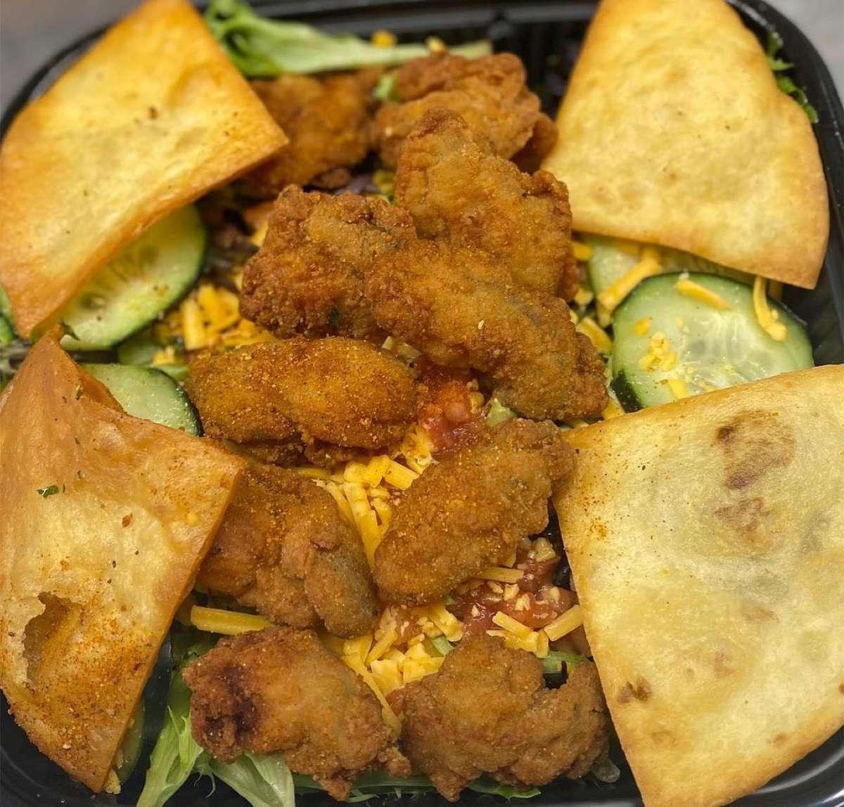 Fried Oyster Salad