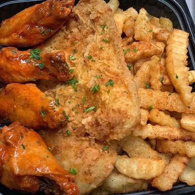4 Chicken Tenders, 1 Fish & Fries