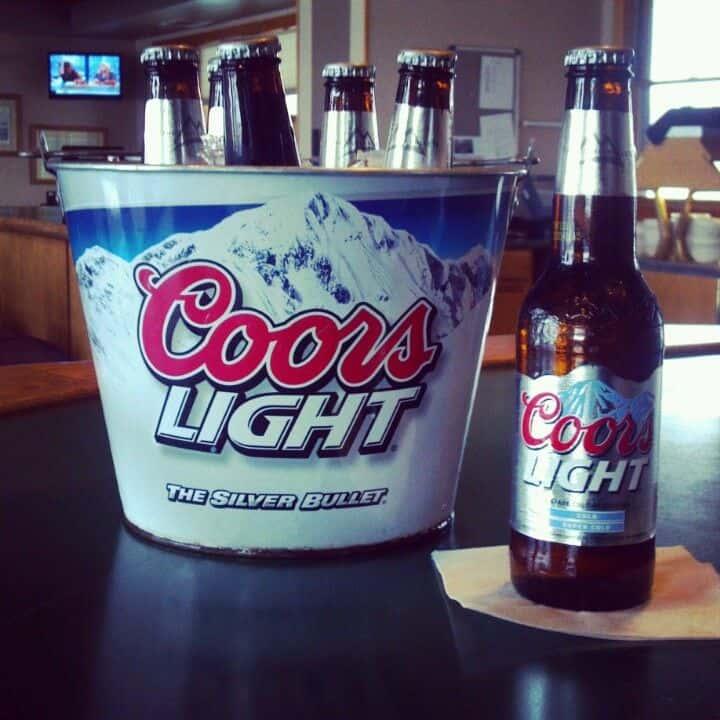 Buckets of Coors Light Bottles