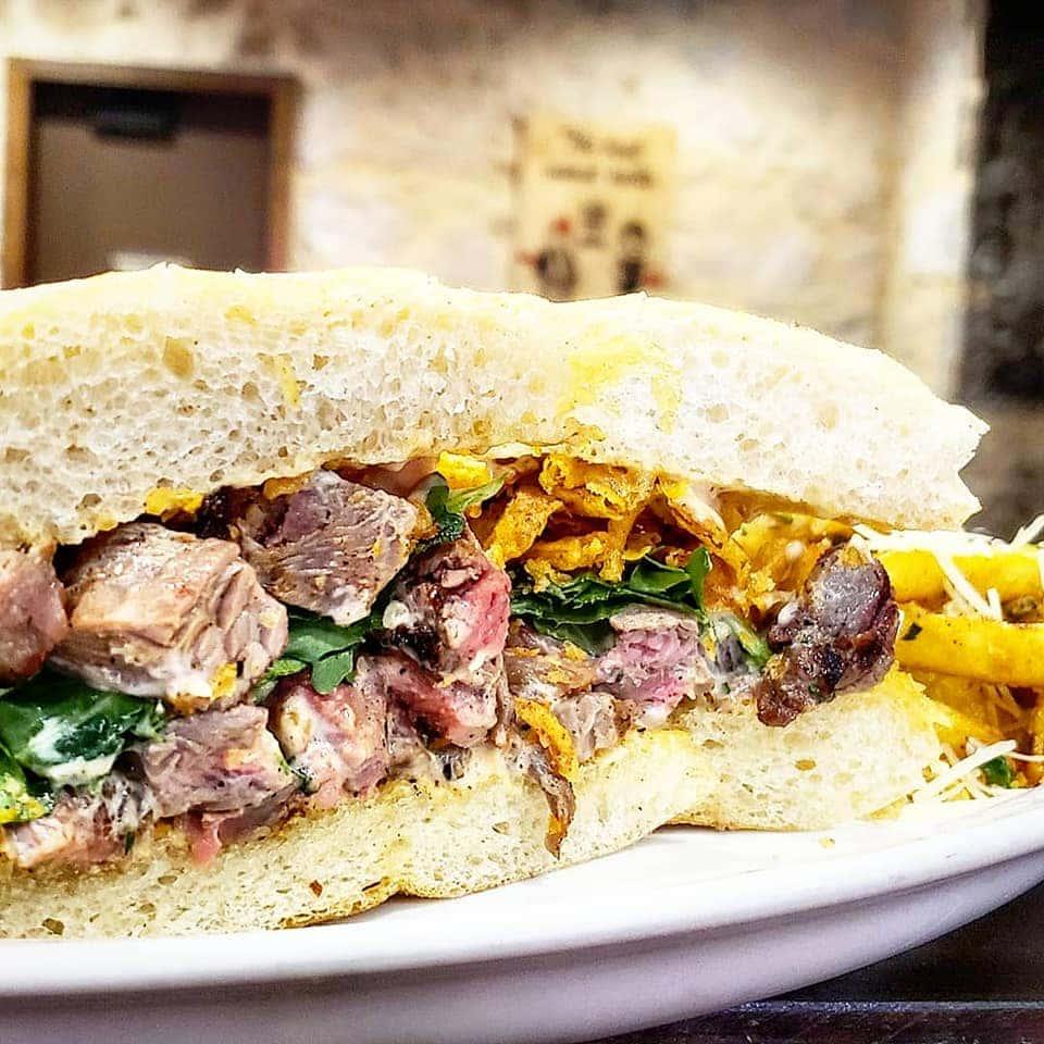 Roadhouse Steak Tip Sandwich