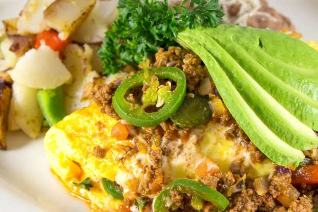 Spicy Ground Beef Omelet