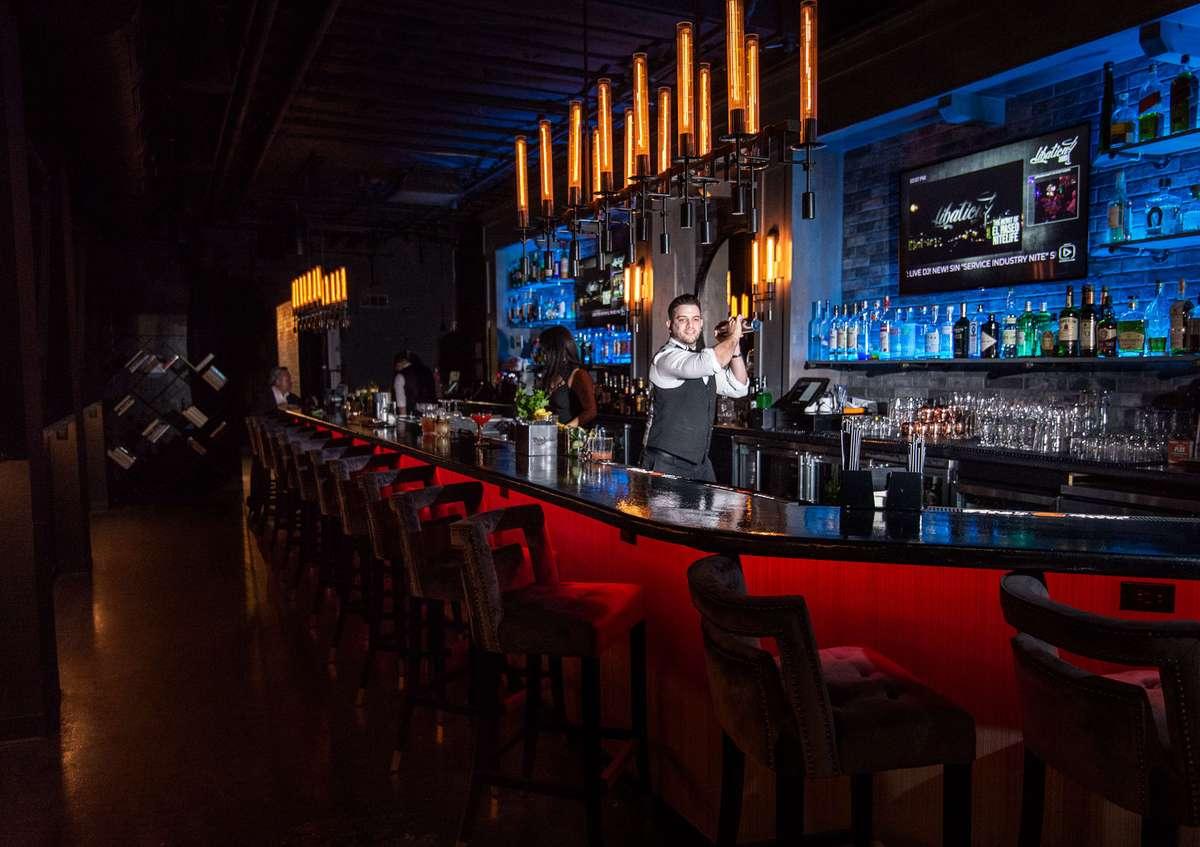 bar with bartender