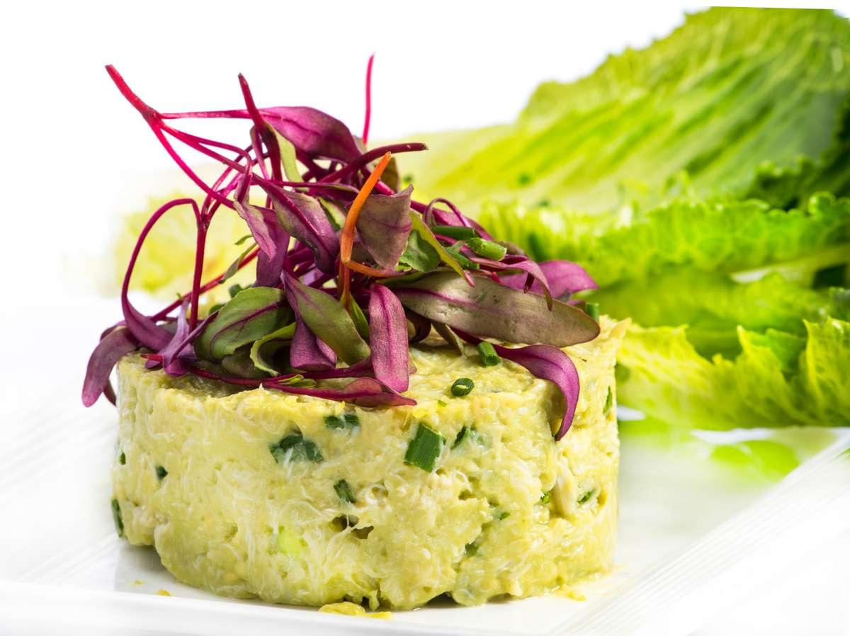 Blue Crab Meat Salad Wraps