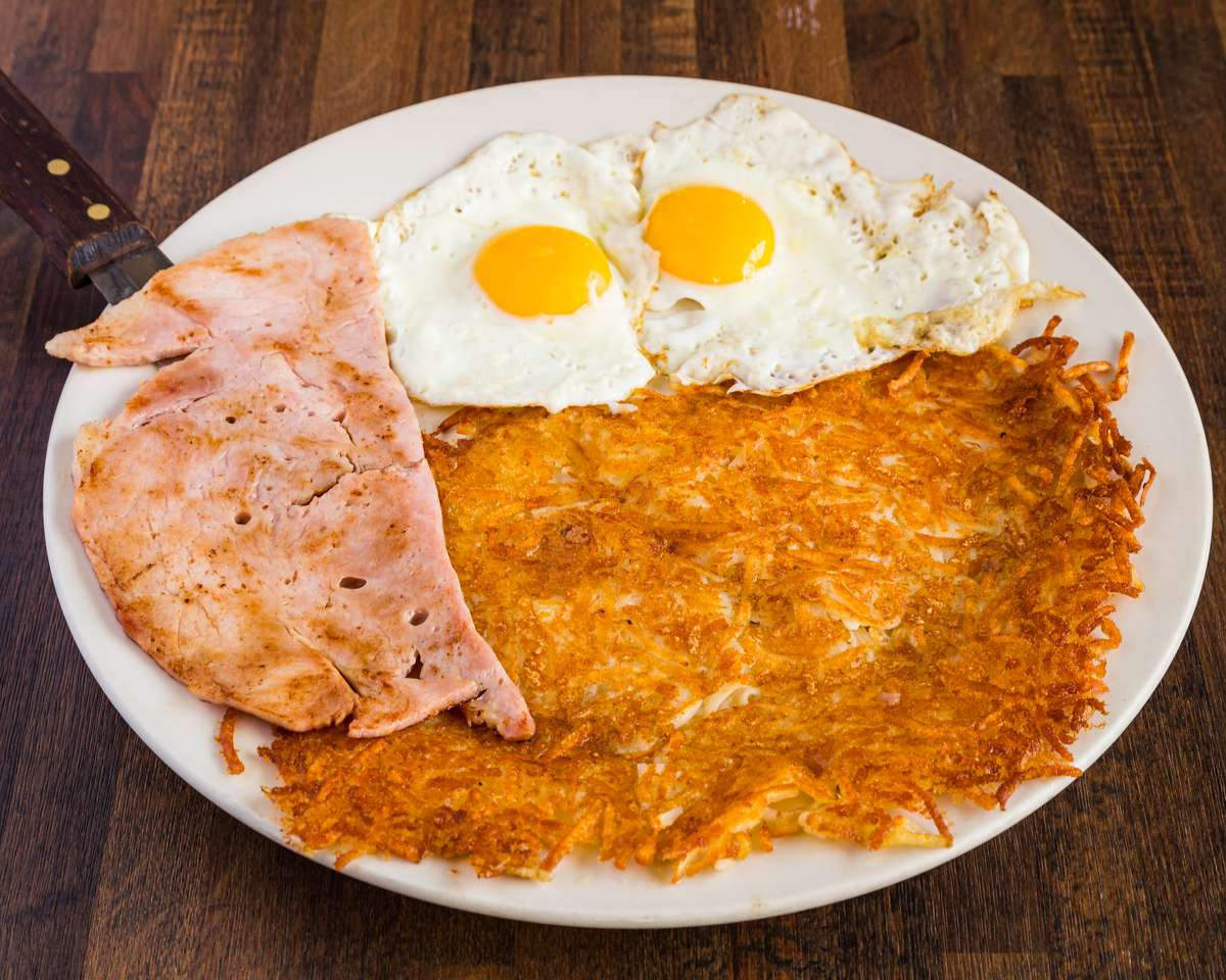 2 Eggs with Your Choice of Ham, Bacon or Sausage