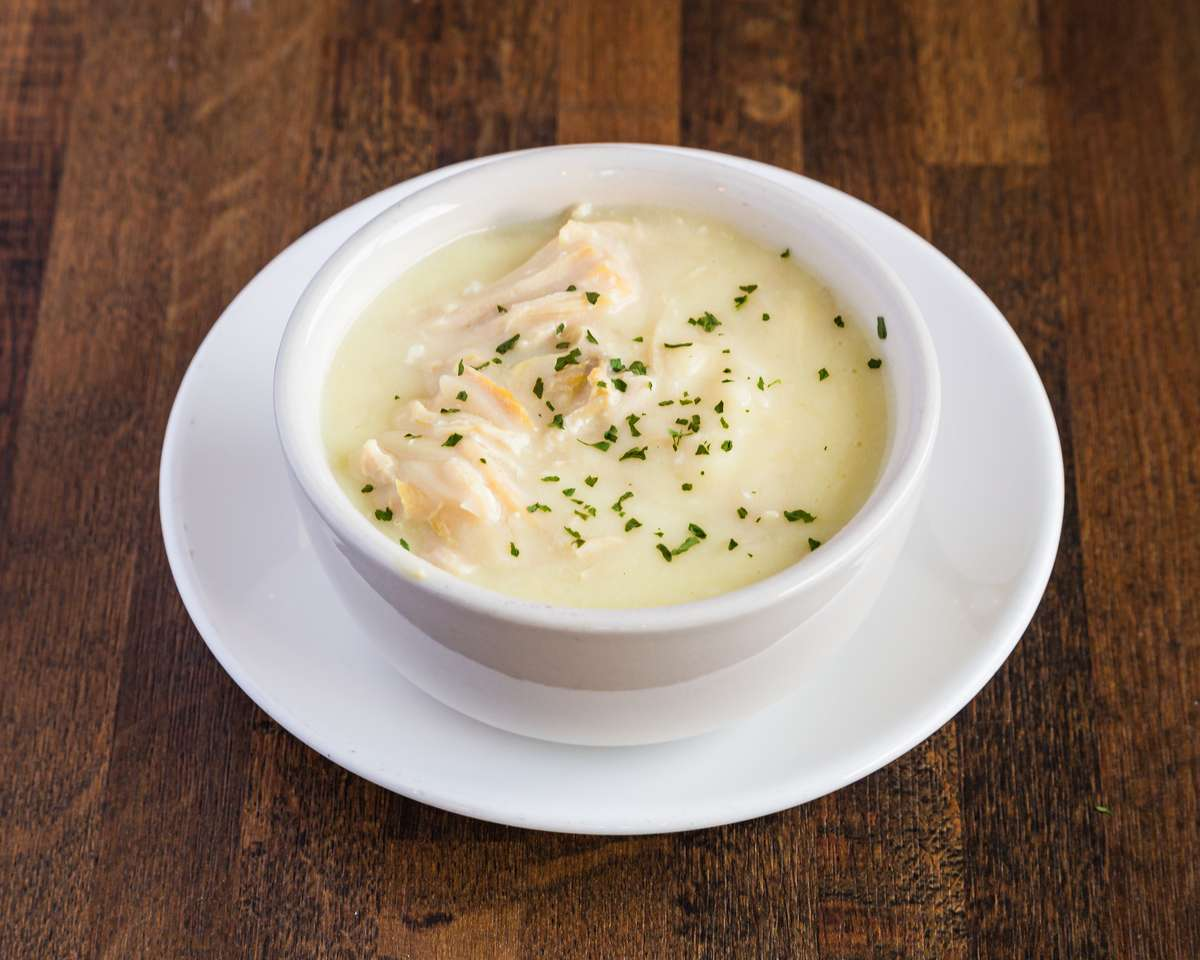 Bowl of Greek Chicken Lemon Soup