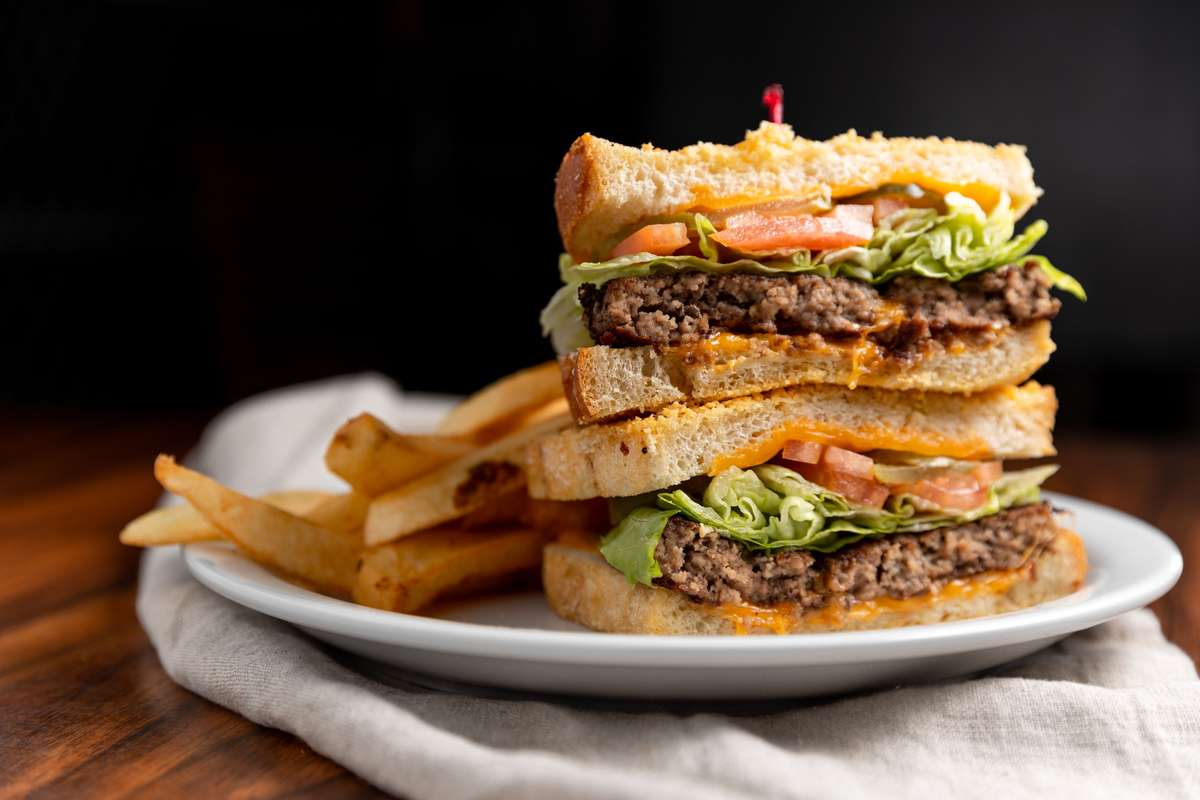 Grilled Sourdough Parmesan Burger