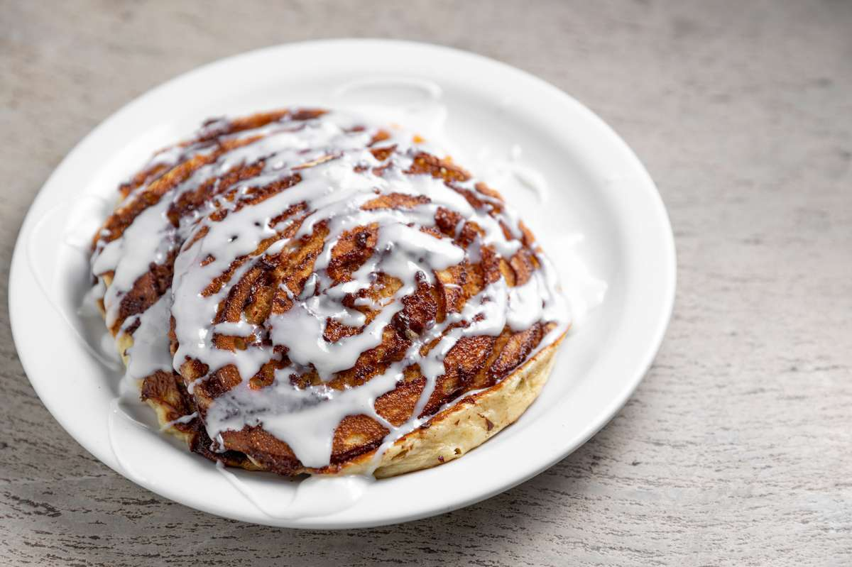 New! Cinnamon Roll Pancakes