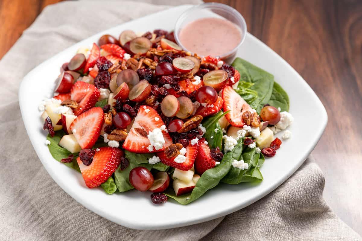 Apple, Strawberry & Spinach Salad