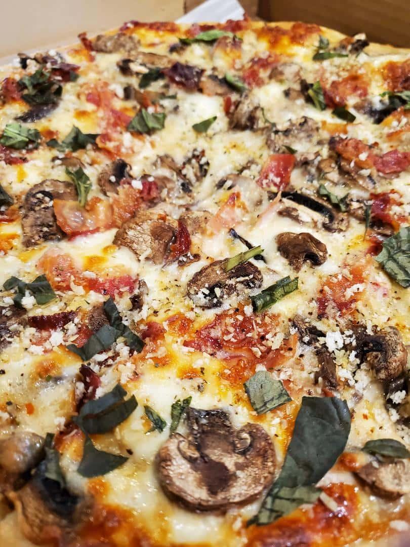 Stuffed Mushroom Pizza