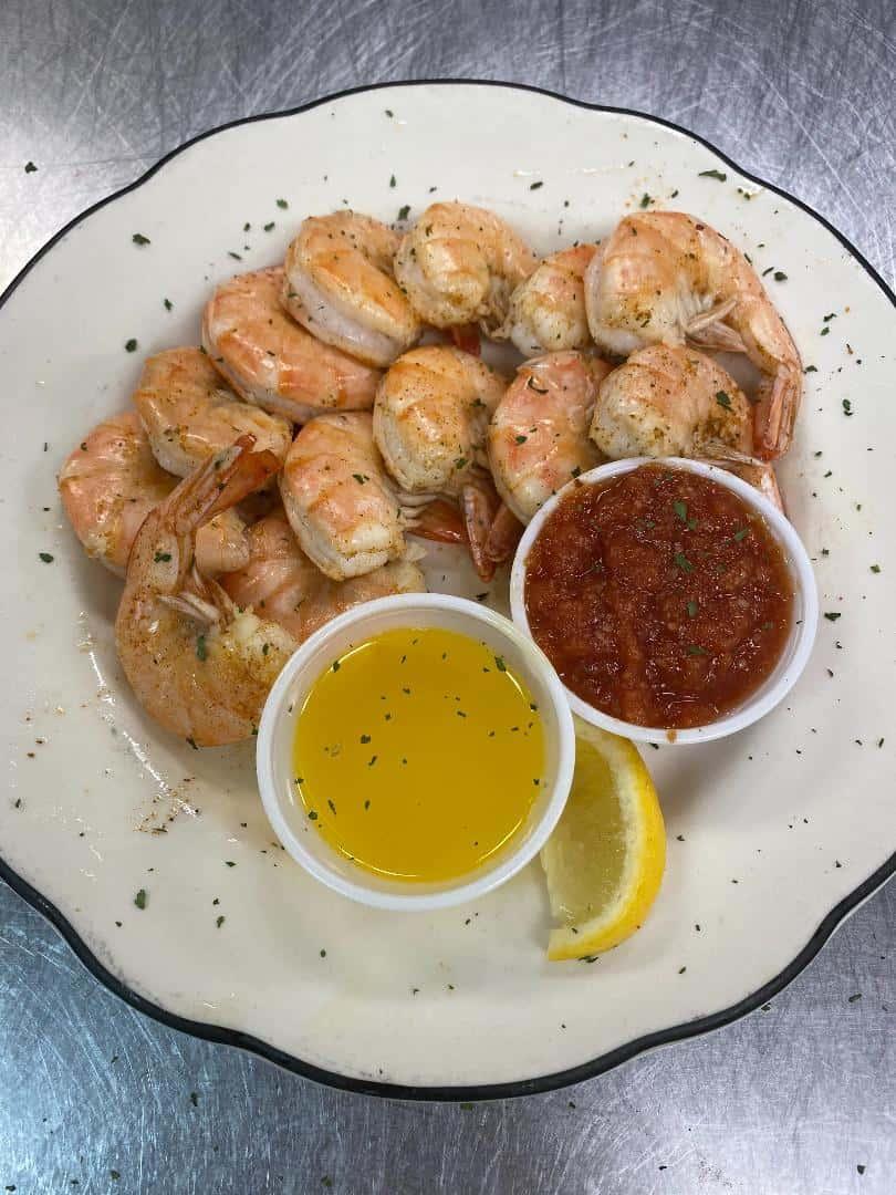 Succulent Steamed Shrimp