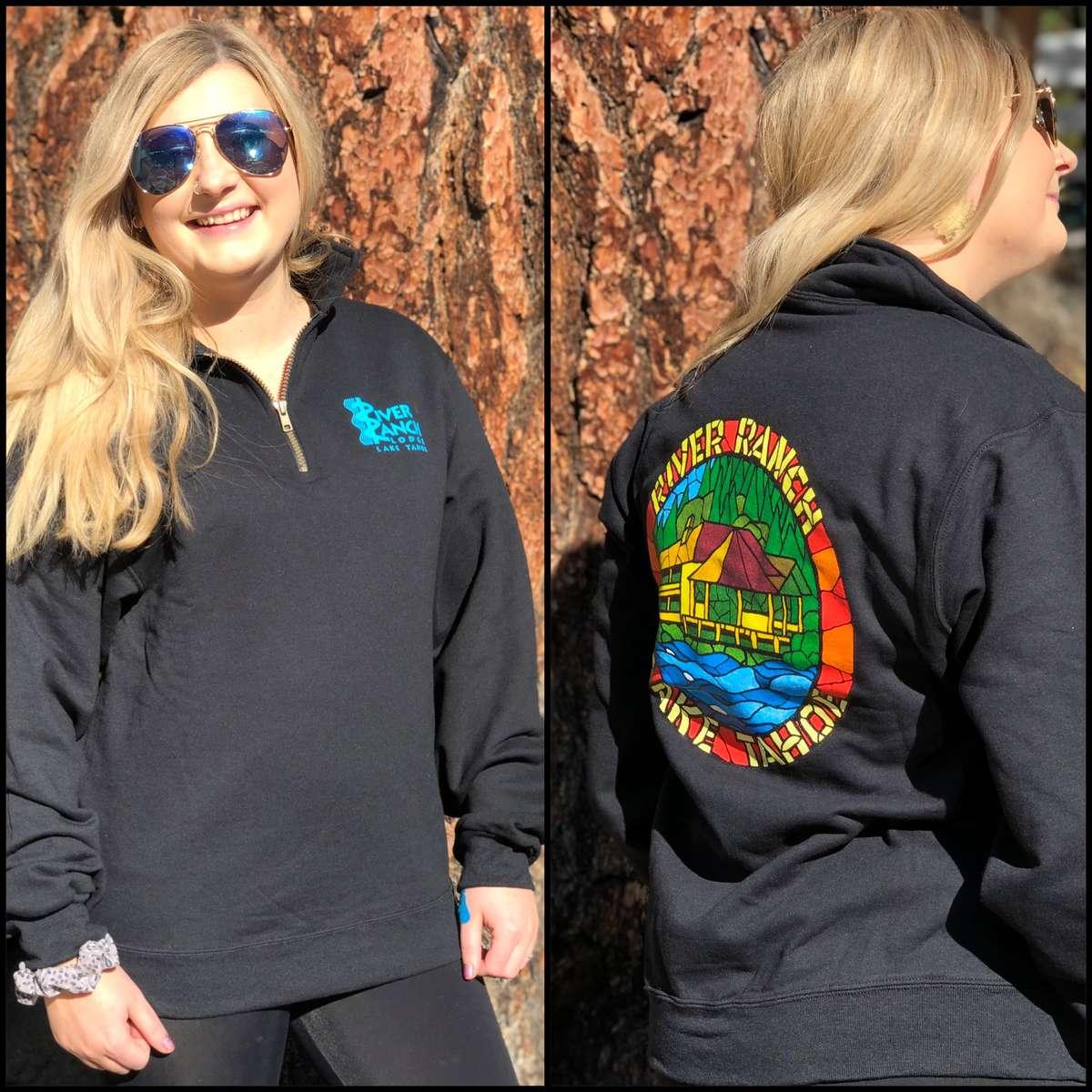 Black Mosaic 1/4 Zip Sweatshirt