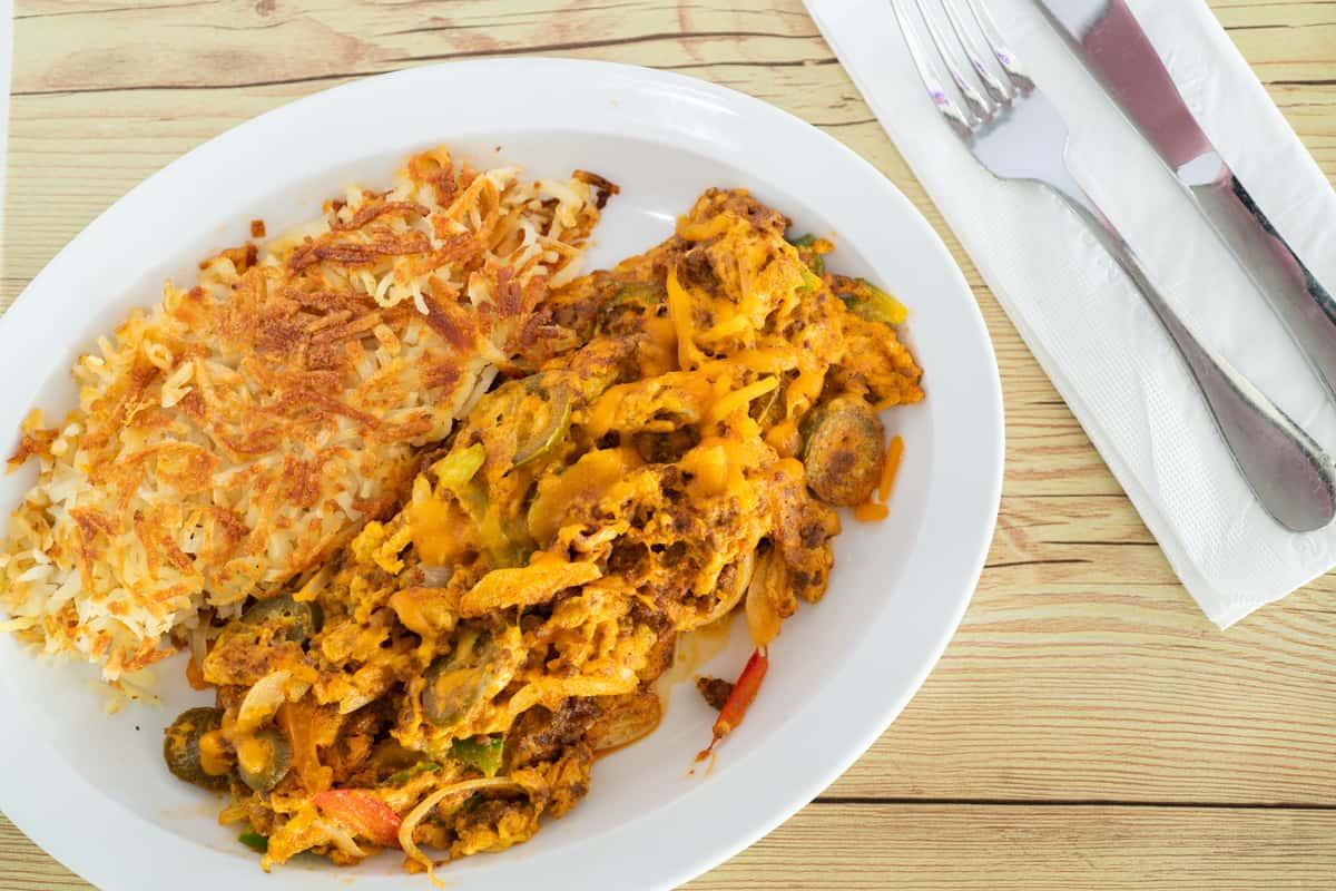 *Chicken Fajita Omelet