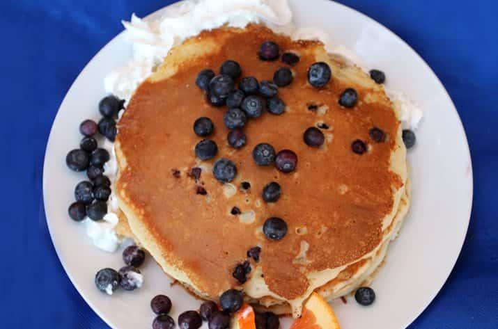 Buttermilk Pancakes W/ Fresh Blueberries