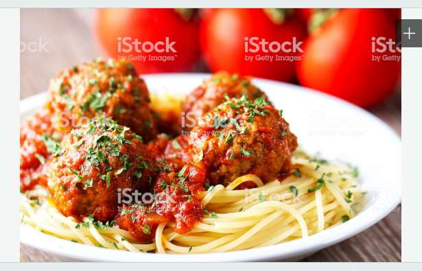 Spaghetti W/ Meatballs, Sauce & Drink