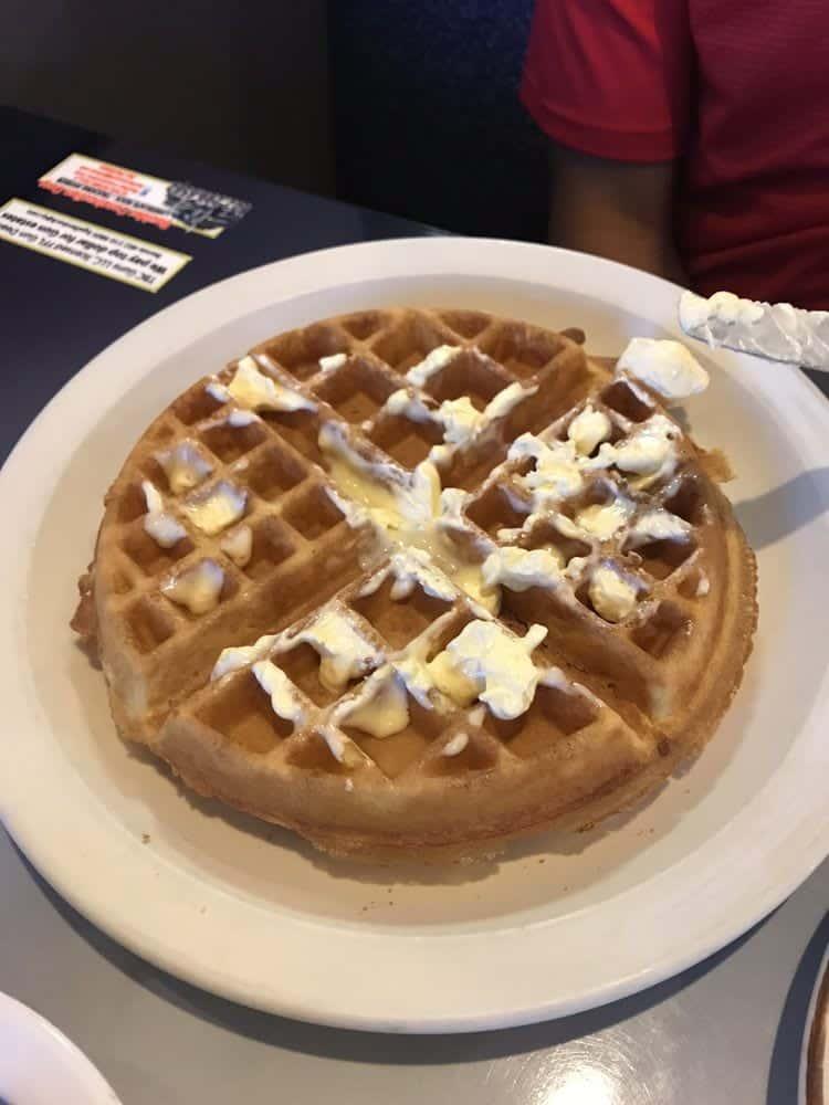 Belgian Waffle & Eggs