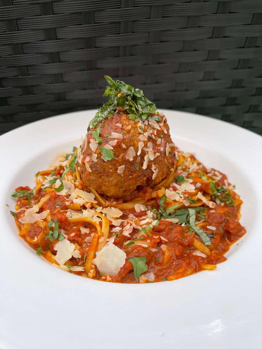 Linguini and Kobe Beef Meatball