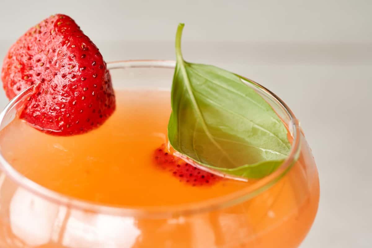 Strawberry Basil Gimlet