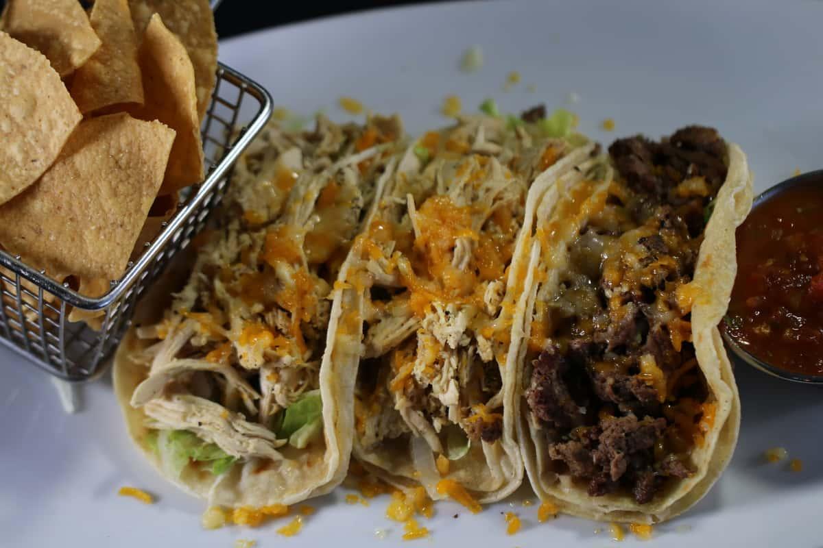 Chicken or Steak Tacos (2)