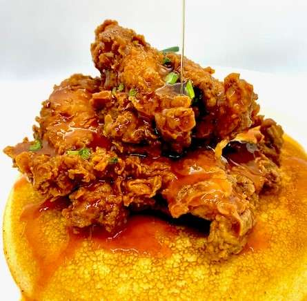 Honey Hot Fried Chicken & Johnny Cake