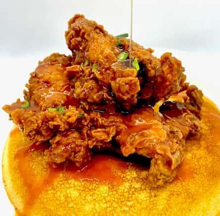Honey Hot Fried Chicken & Johnny Cake