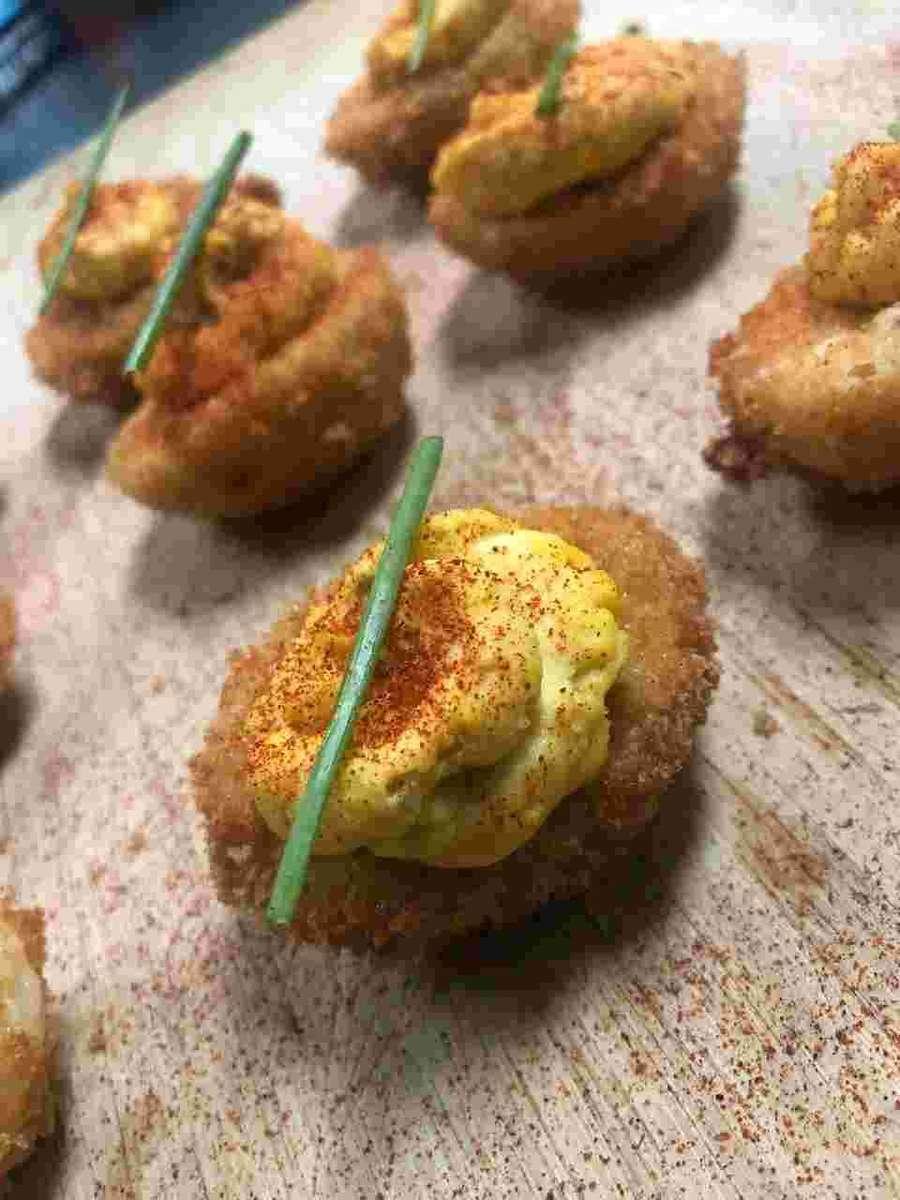Deep Fried Deviled Eggs