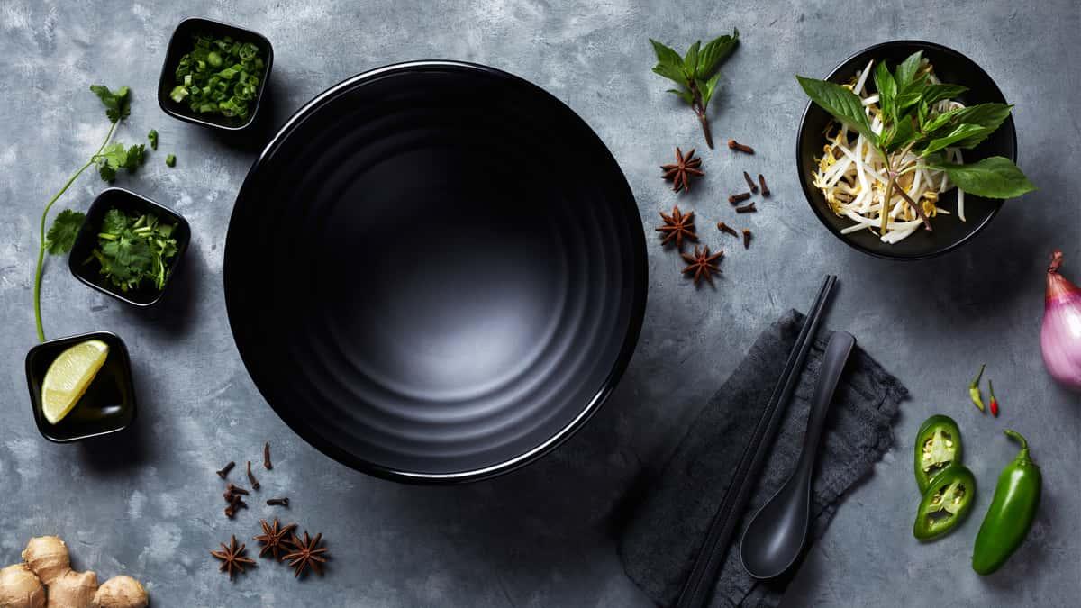 bowl and veggies