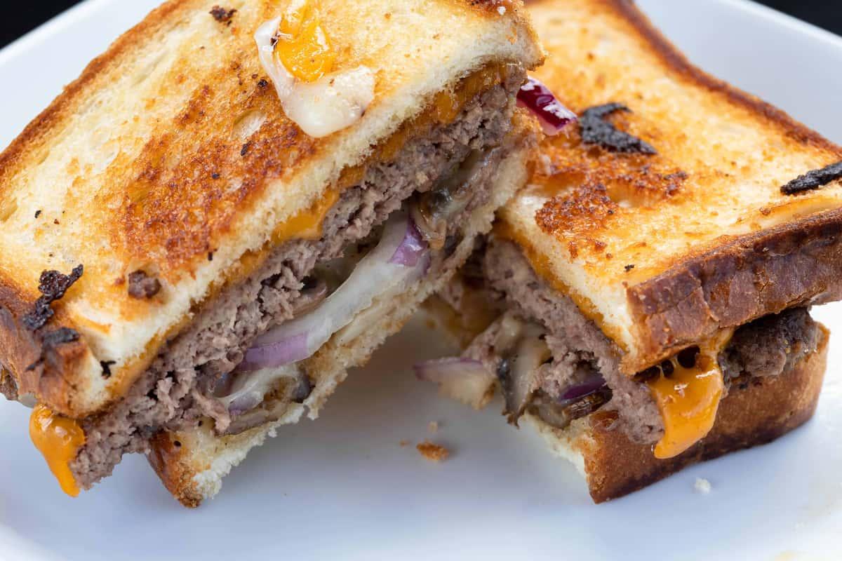Angus Patty Melt on Texas Toast