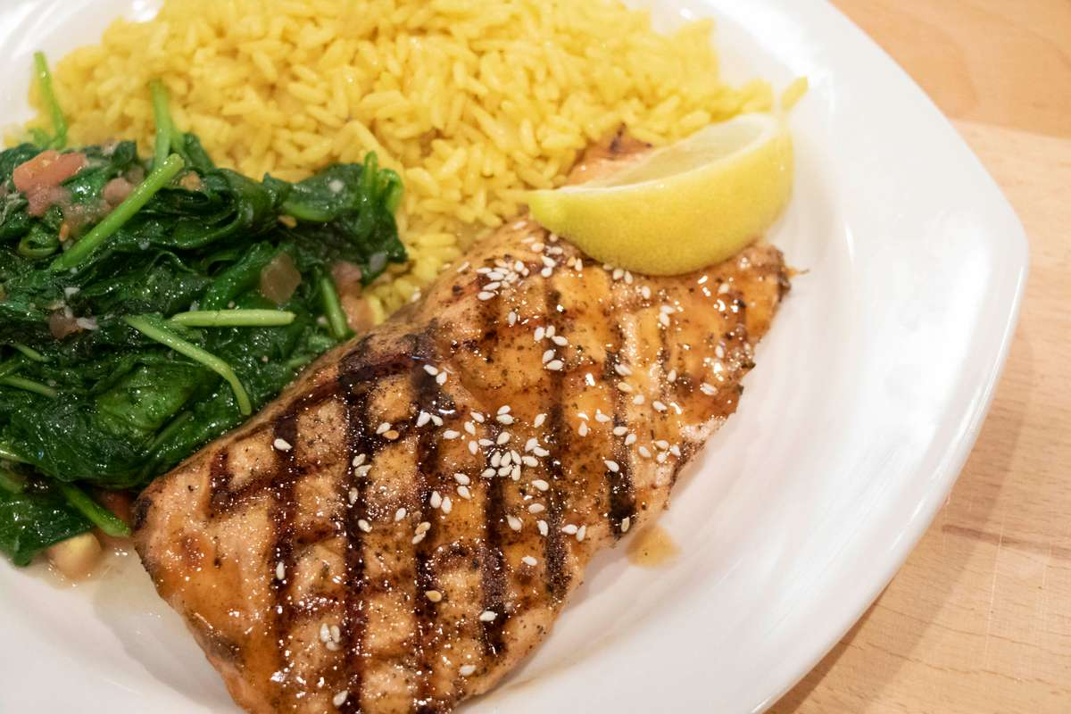 Oak Grilled Atlantic Salmon*