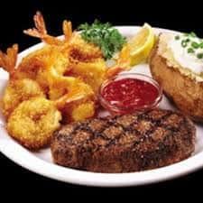 Butterfly Shrimp & 9 Oz Top Sirloin Steak