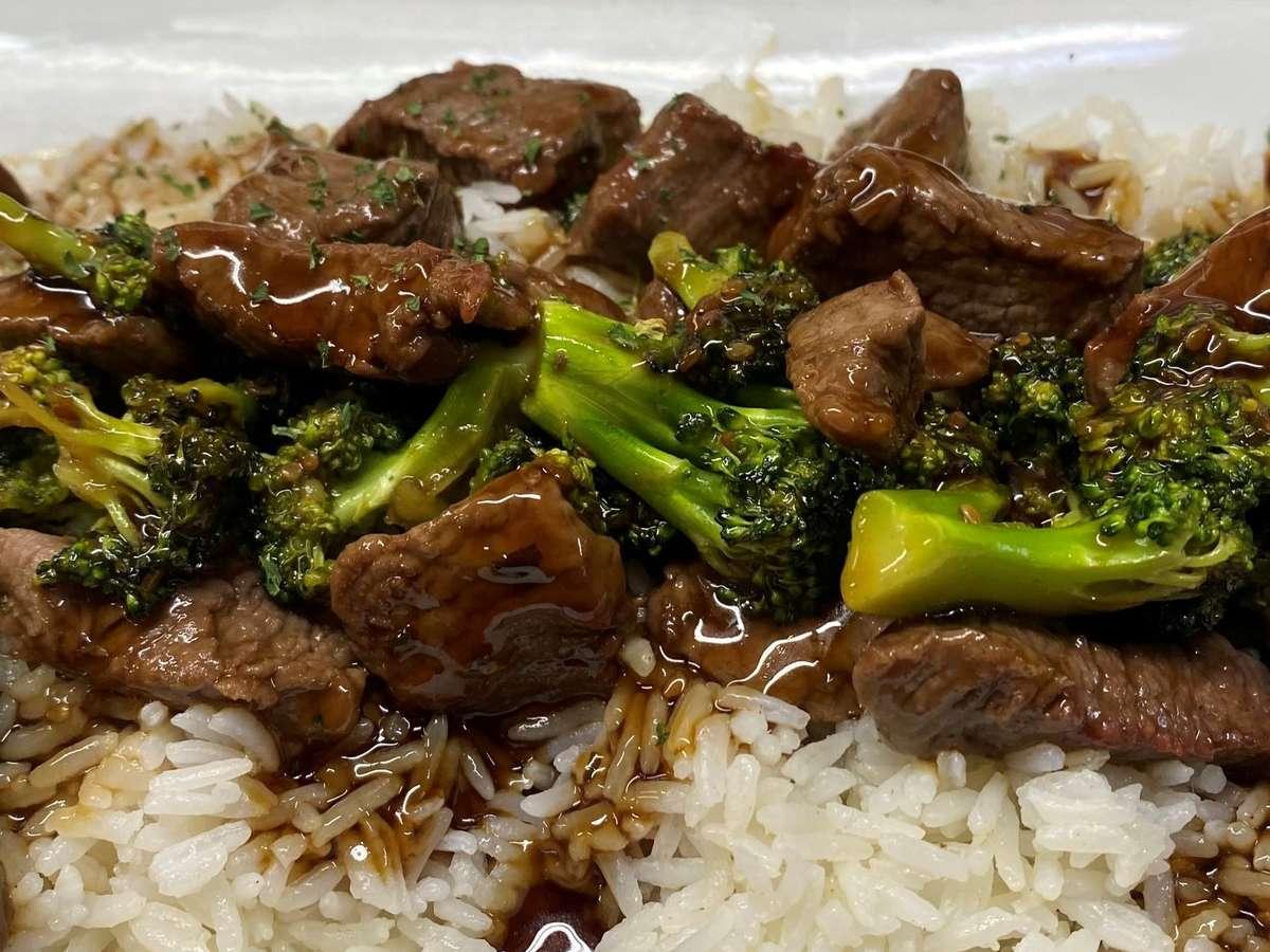 Teriyaki Beef with broccoli