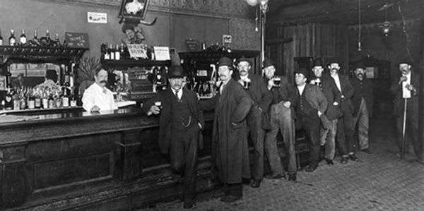 interior of Spar early 1900's