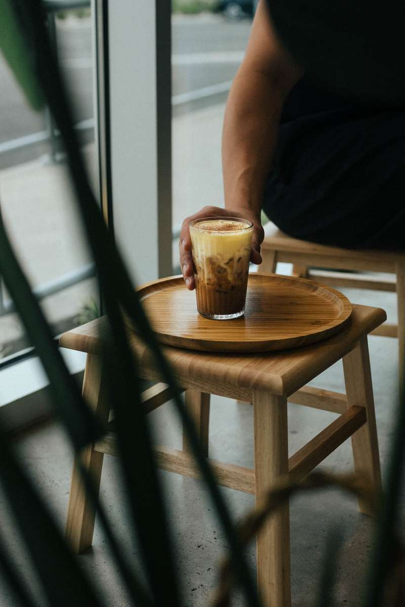 Bread and latte