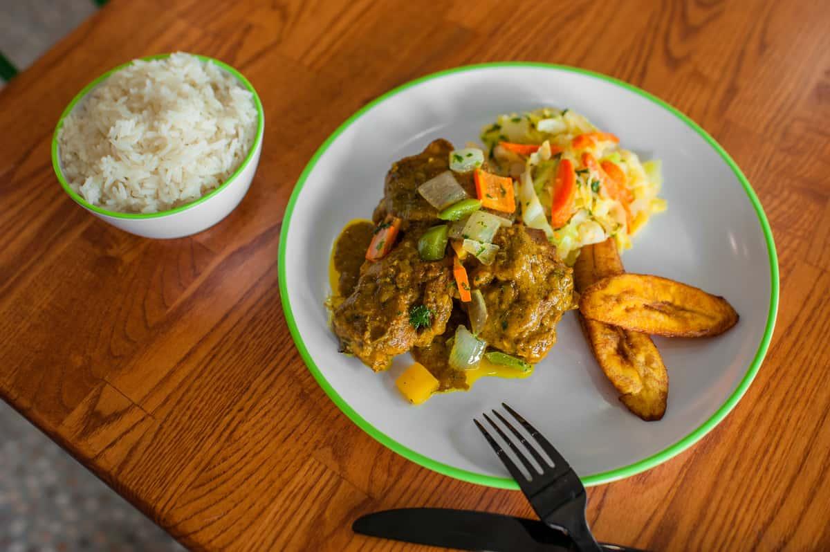 Side Curry Chicken