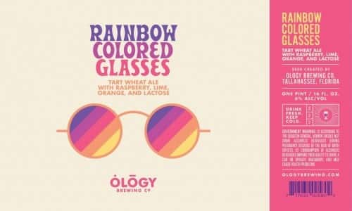 Rainbow Colored Glasses Wheat Ale